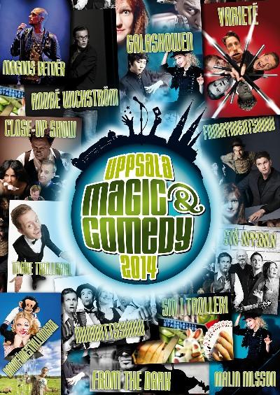 Uppsala Magic & Comedy 2014 Kollageaffisch