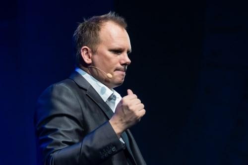 Mentalisten Micke Askernäs på Göta Lejon i Stockholm.