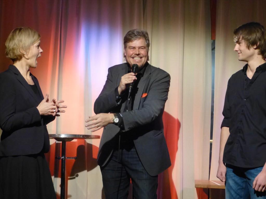 John Houdi med Johanna Adsjö och Ted Silfverberg
