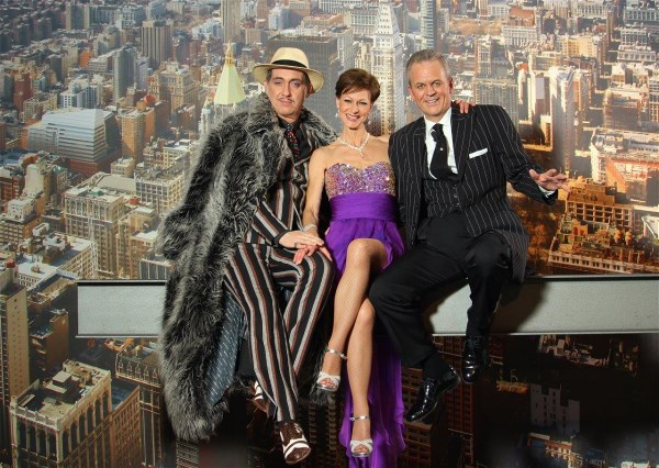 Quinn og DRESDEN GODFATHER Bert Callenbach On the Top of New York - Mafia Mia DinnerShiow