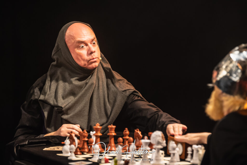 Leif som den schackspelande Döden