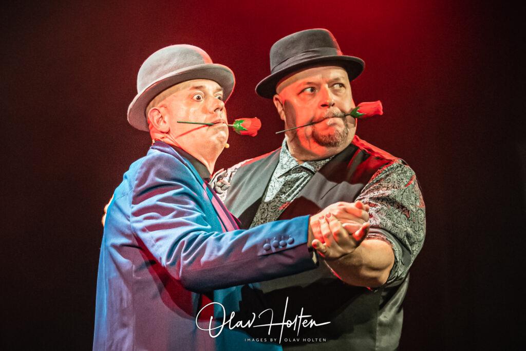 Martin och Leif i en het tango